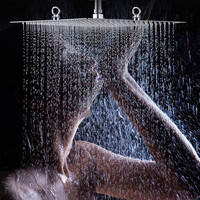 US Free Shipping Wholesale And Retail 20 Stainless Steel Shower Head Polished Chrome Bathroom Rain Big