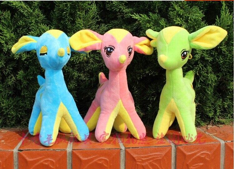 6 pieces cute muti colour beauty deer toy lovely font b plush b font beauty deer