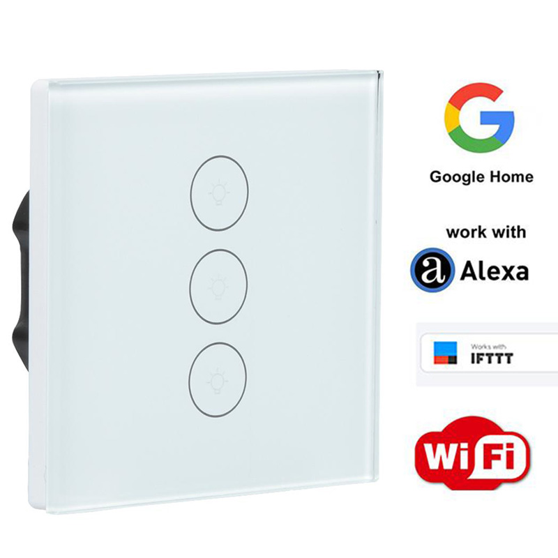 WiFi Smart Switch Work with APP Amazon Alexa Google Home Remote Control 1 2 3 Gang Wireless Light Wall Switch IFTTT EU Plug