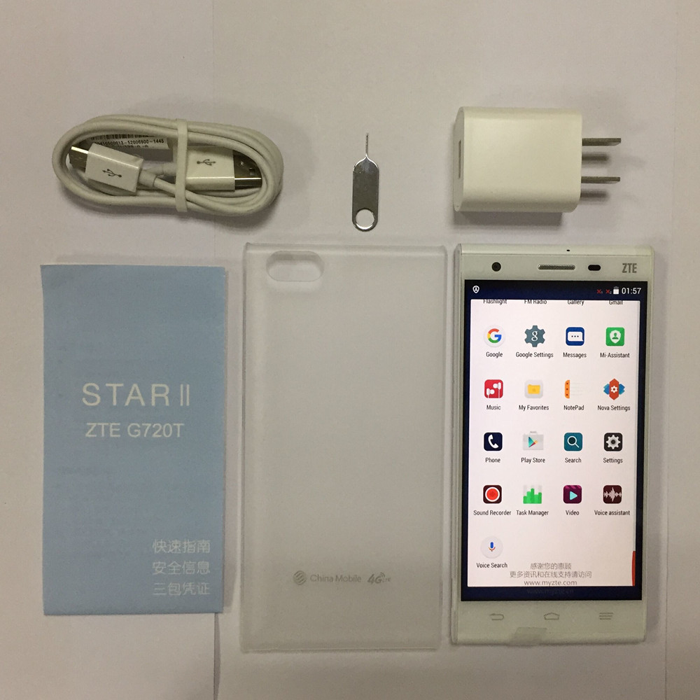 Original Zte G720T Mobile Phone snapdragon 615 Ocat Core