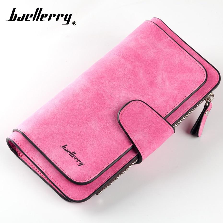 все цены на Baellerry Phone Clutch Cuzdan Lady Wallet Female Women Purse For Money Bag Zipper Long Card Holder Baellery Walet Vallet Klachi