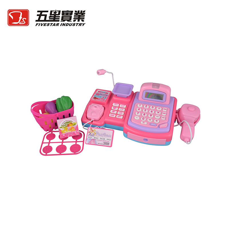 FS TOYS 1 SET 35502 Kids Plastic Cash Register Toy cash register for children play pretend set toys for children cash machine c 50 electronic cash registers cash register pos cash register 8v multifunctional catering cash register for supermarket milktea