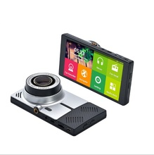 Newest Android Car DVR Camera 5″ Full HD 1080P GPS Navigation  ROM Video Night Vision Recorder Registrator Wifi  Double lens