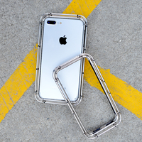 R JUST Military Heavy Duty Case for iPhone 7 7plus Mobile phone shell for iPhone 8 8plus Stainless steel material cellphone case