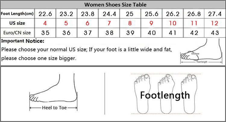 women shoes size(1)