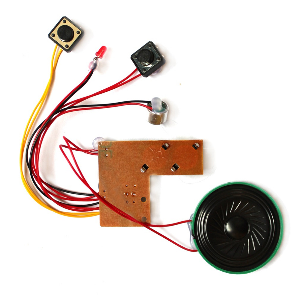 1pc Kid Adult Sound Recordable Voice Module For Greeting Card Music