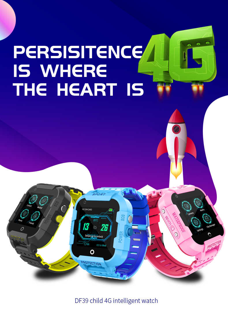 2019 Child 4g Smart Watch Student GPS SOS anti-lost Waterproof Phone Wifi Video Call IP67 Waterproof Android Baby SIM Watch