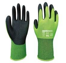 FBA Amazon Garden Gloves Safety Gloves Nylon With Nitrile Sandy Coated Work Glove nmsafety 12 pairs mechanics work gloves breathe waterproof nitrile coating nylon safety garden construction gloves