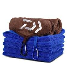 Daiwa-Toalla de pesca, ropa de pesca, gruesa, antiadherente, absorbente, para deportes al aire libre, toalla de manos, equipo de pesca para senderismo
