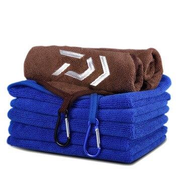 Daiwa, toalla de pesca, ropa de pesca, espesamiento, absorbente antiadherente, toalla de manos para deportes al aire libre, equipo de pesca para senderismo