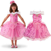 hot new 2016 Sequins Baby Girls Party Dress Sleeping Beauty Costume Gown Bridesmaid Dresses