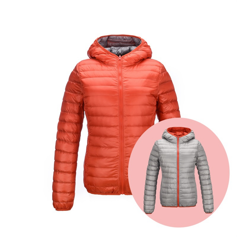 2019 N Brand   Down   Jackets Women Ultra Light   Down   Jacket Women Feather Jackets Double Side Reversible Lightweight Warm   Coats