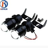 2X Universal Halogen Fog Lights Retrofit Projector Lens 12V 35W Parking Car Styling Lights Driving Lamps