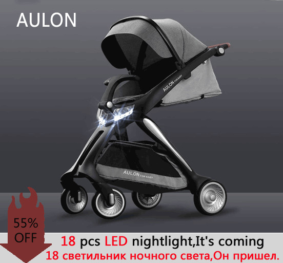 2019 AULON LED PRAM aulon baby stroller,out of the box and