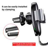 Baseus Wireless Charger Car Holder For iPhone 11 Pro Max USB Wireless Charging For Samsung S9 Note 9 Air Vent Car Mount Holder 2
