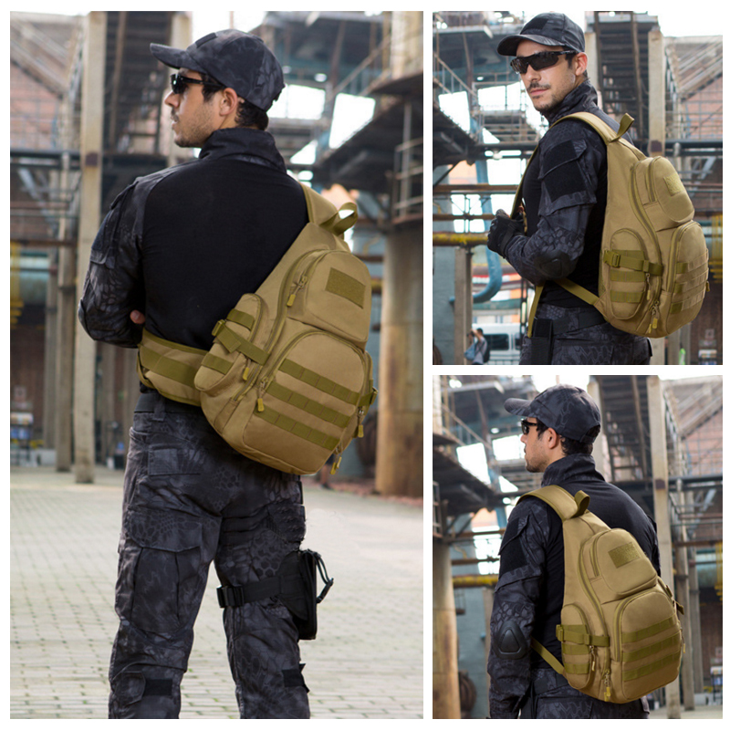 20 35L Tactical Sling Bag Waterproof Shoulder Sports Bag Tactical Military Backpacks Camping Outdoor Single Belt Chest Pack in Climbing Bags from Sports Entertainment