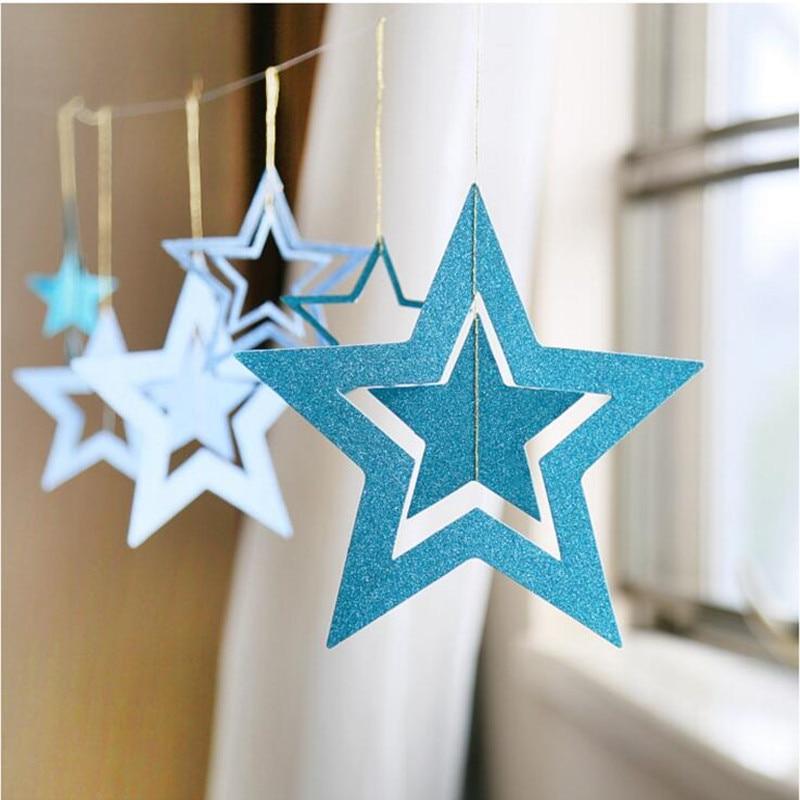 1Set Classical Hollow Paper Garlands Christmas Decor Wedding Party Room Door Festival Star ...