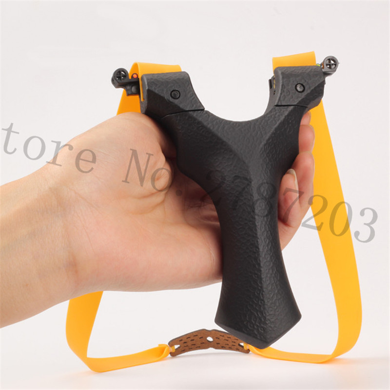 Slingshot For Hunting Resin Stable Catapult Outdoor Shooting Powerful Handheld Slingshots Bow with Rubber band