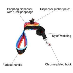Image 5 - Zestaw smycz i uprząż dla psa z torba na odchody miękka oddychająca Rainbow Mesh buldog francuski kamizelka regulowana smycz do biegania uprząż SP