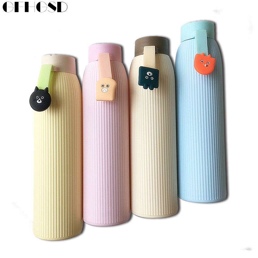 GFHGSD Children Infusers High Temperature Resistant Glass Water Bottle Sports Portable With Silicone Set Drinkware Water Bottles