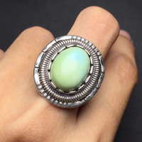 Fine Jewelry On Sale Christmas Gift S925 Solid Real 925 Sterling Silver Vintage Natural Turquoise Gemstone
