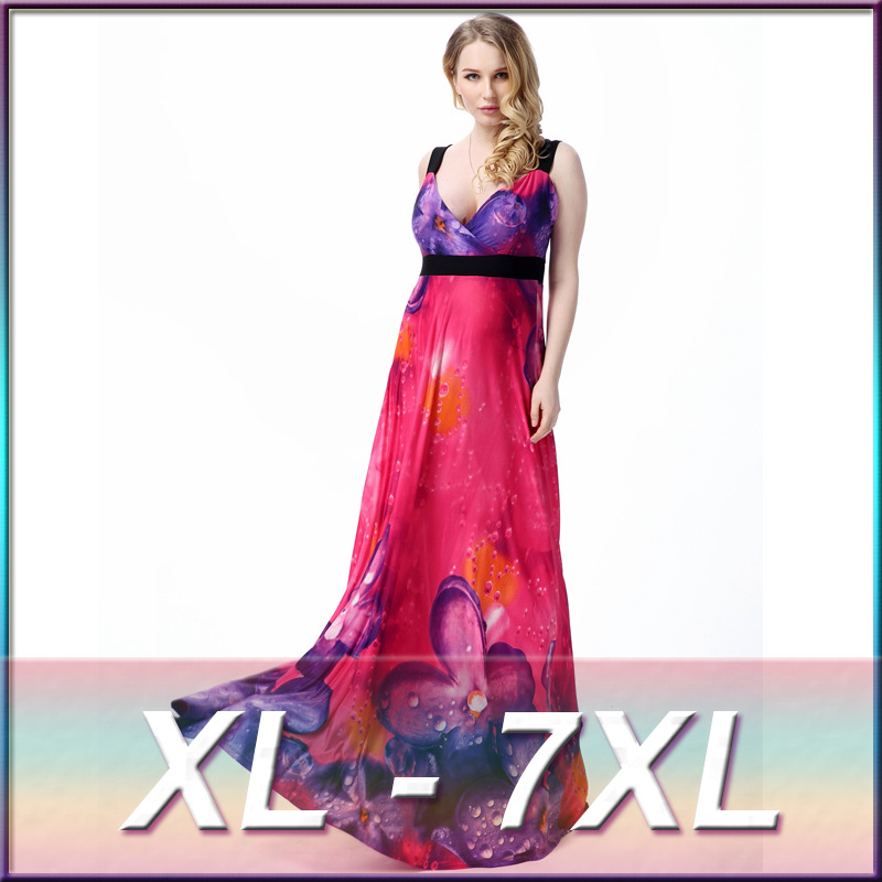 US $24.25 6% OFF|New summer women\'s evening dresses bohemian plus size(XL  7XL) maternity dresses pregnant clothing beach dress 7105-in Dresses from  ...