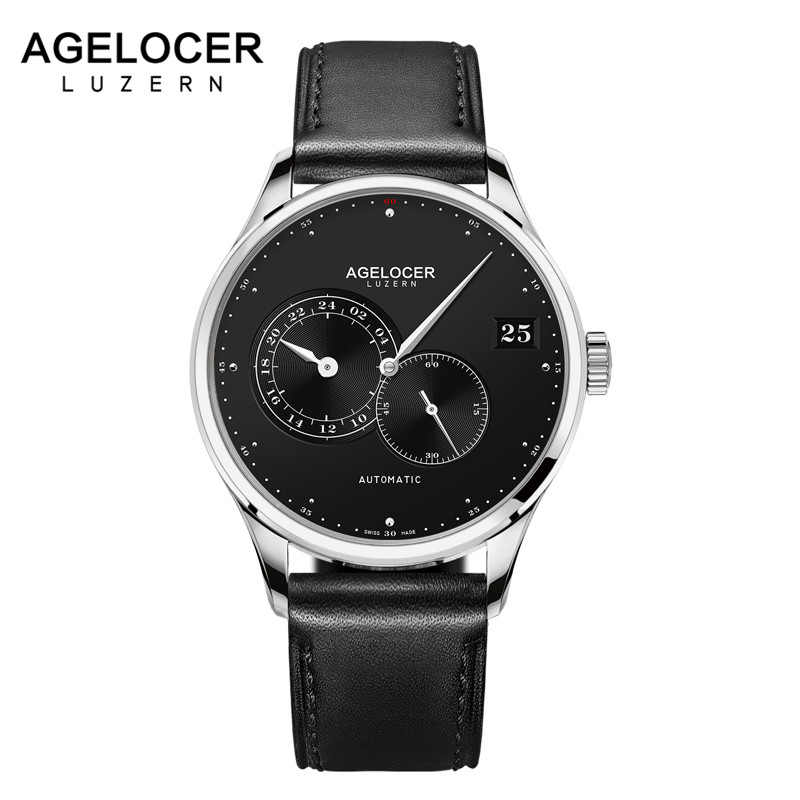 AGELOCER Swiss Luxury Brand Top Men Automatic Wrist watch Mens Fashion Casual Dress Business Watches Man Clock Relogio Masculino
