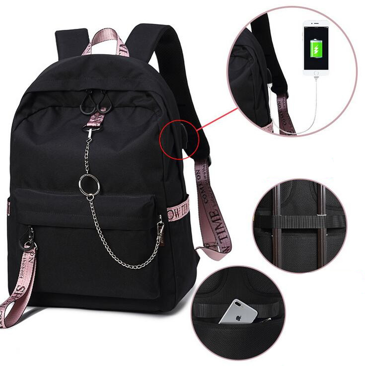 USB Charge Men Backpack Anti-theft Mochila 14-15Notebook Backpack Waterproof Male Backpack Women school bag