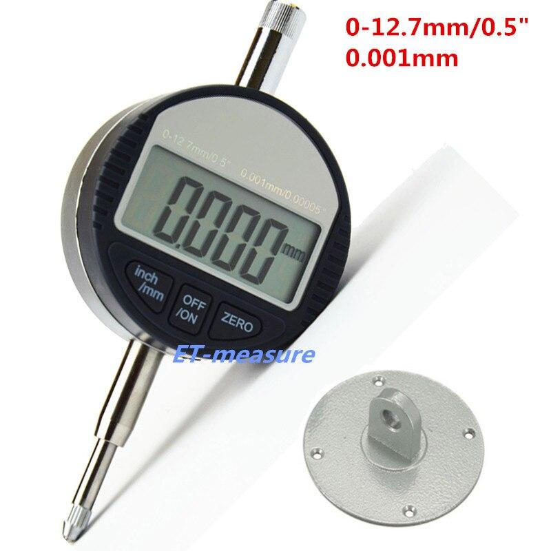 """4 размера цифровой индикатор 0-12,7 мм/0-25,4 мм 0,001 мм 0,0000"""" Электронный микрометр микрометрический/дюймовый индикатор - Цвет: 0-12.7x0.001mm"""
