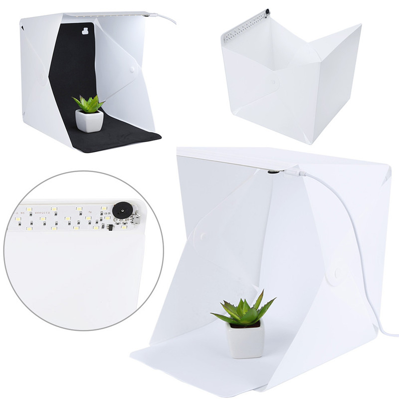 Portable Mini Folding lightbox Photography Photo Studio Soft box Lighting Kit Light box for IOS Andriod Phone Digital DSLR Cam
