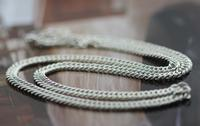 Popular Men's Silver Horse Whip Chain Clavicle Chain Necklace
