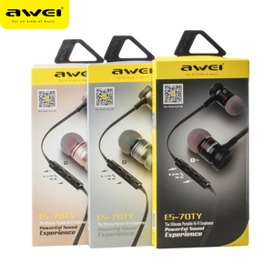 Image 5 - Awei ES 70TY In Ear Earphones With Microphone Metal Stereo Headphone Wired Headset Super Bass Earphone for iPhone Samsung Xiaomi