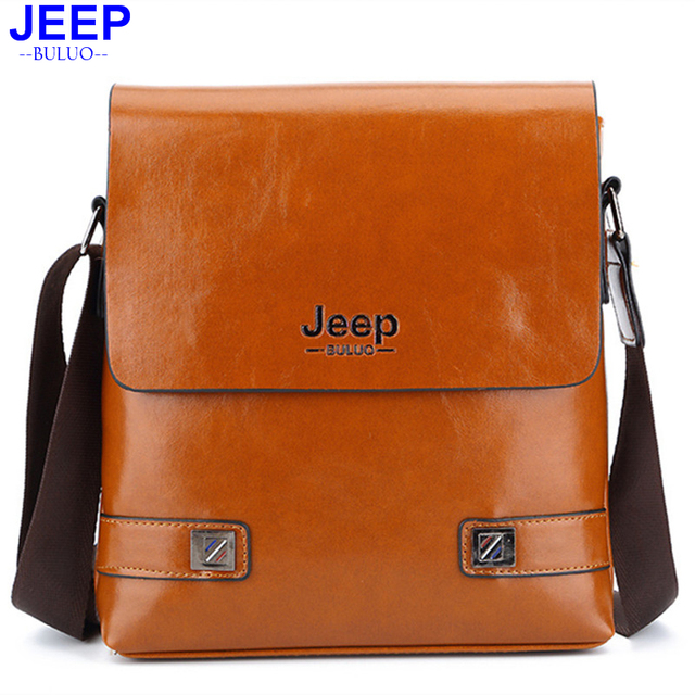 0c6e51b95a1 HENGSHENG Luxury PU leather men shoulder bags of JEEP leather men messenger  bag by cover open men leather bag men shoulder bags