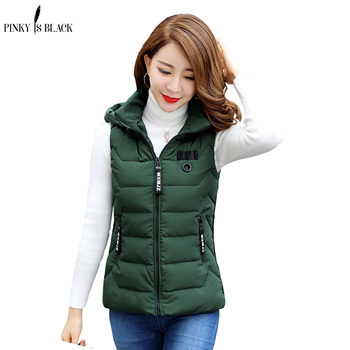PinkyIsBlack wholesale 2019 new autumn winter vest women hot selling waistcoat fashion casual female nice warm jacket