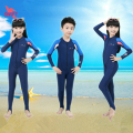 Kids UPF50+ Quick Dry Lycra Diving Wetsuit Girls Boys Sun Protection Long Sleeve Swimsuit Children Full Body Swimwear Wet Suit