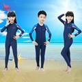 Kids UPF50+ Quick Dry Lycra Diving Wetsuit Girls Boys Sun Protection Long Sleeve Swimsuit Children Full Body Swimwear Wet Suit