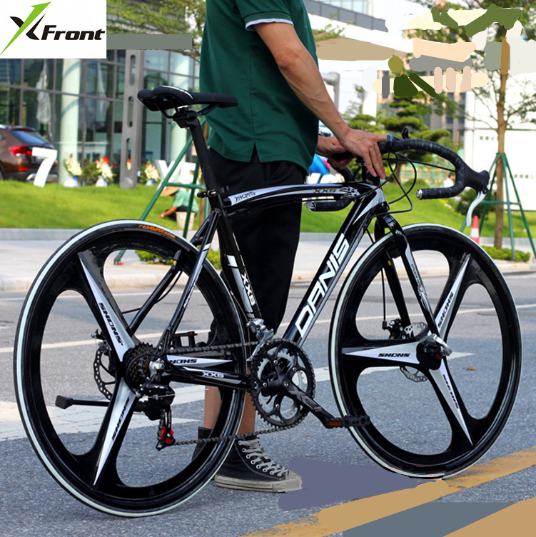 New brand Aluminum Alloy Frame 14 speed 700CC disc brake mountain bike outdoor sport downhill bicicleta racing cycling bicycle  new brand 14 speed racing bike 700c 50cm bike aluminum alloy frame bend bicycle cycling disc brake road bike drop shipping