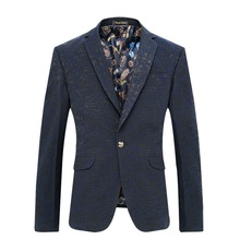 new 2017 men's fashion boutique high-end brand business suits Blazers / Male wedding dress suit jacket / Slim mens leisure suit