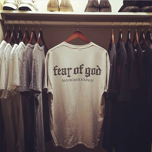 f513b4ebdcee Fear Of God T Shirt Men Women Cotton FOG Justin Bieber Clothes Fearofgod t- shirts Nomad Top Tees Fashion Fear Of God T Shirt
