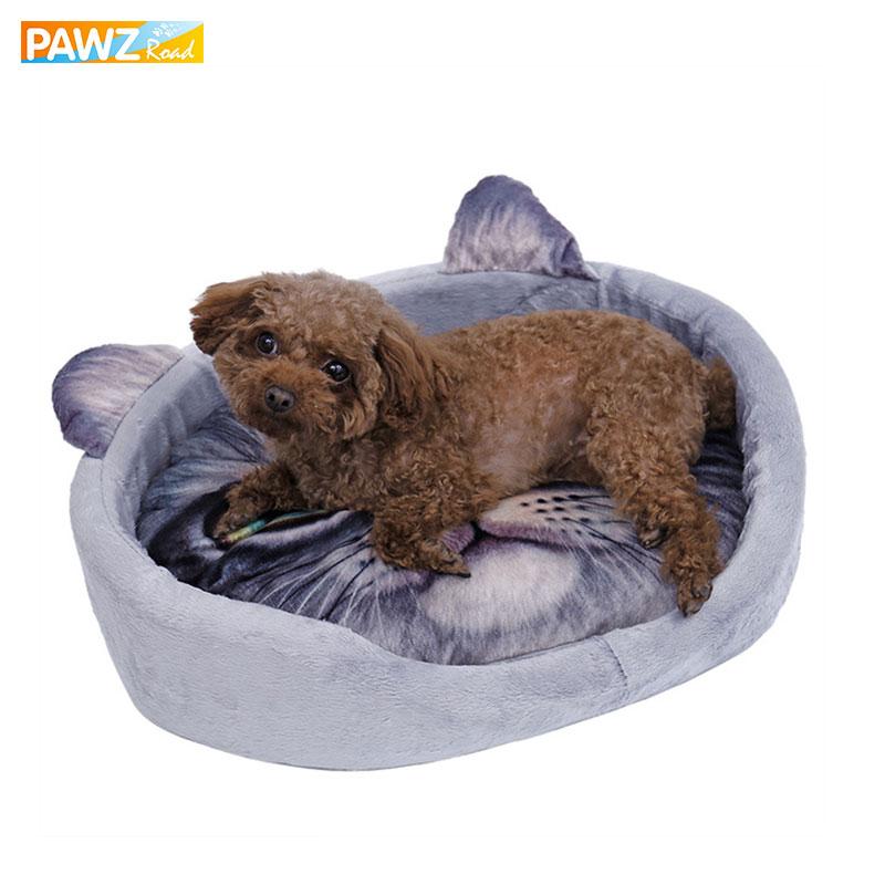 Kedves macska 3D reális minta kisállat ágy puha kennel kiskutya - Pet termékek