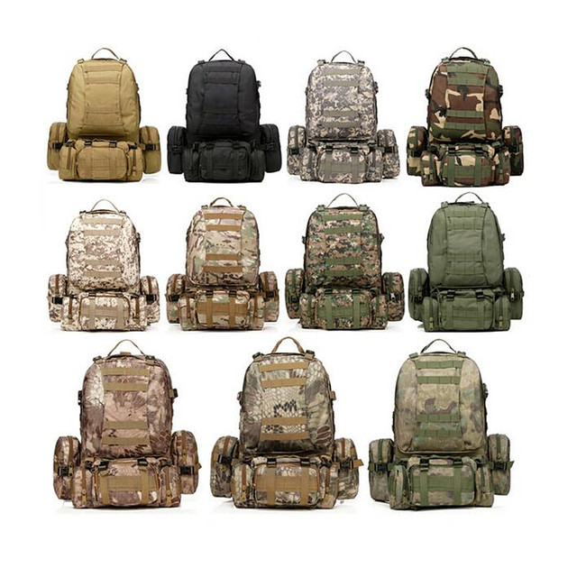 High Quality Large Capacity Travel Military Backpack Men Multifunctional Men Backpack Rucksack Bag