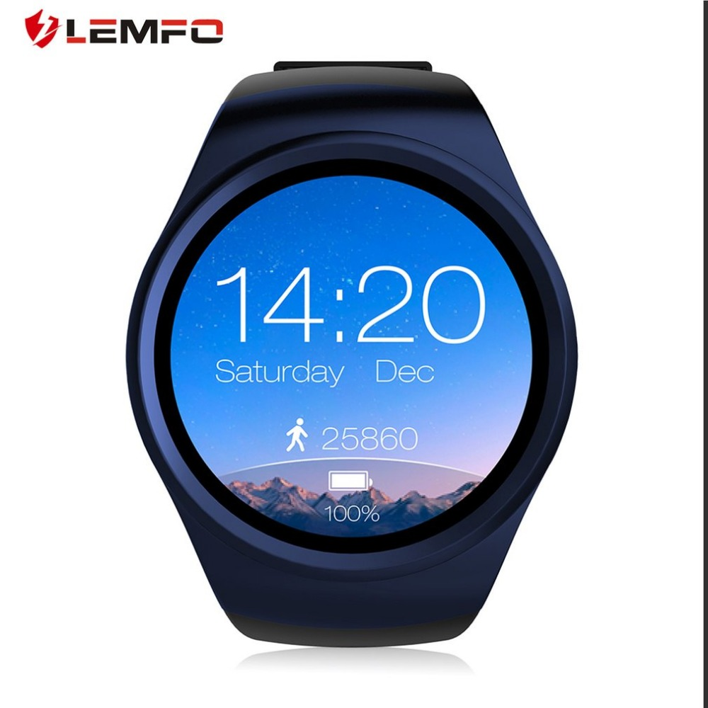 LEMFO LF18 Bluetooth Smartwatch 1.3 Round Toutch Screen Heart Rate Monitor Clock Support SIM TF Card Answer/Dial Call For Man