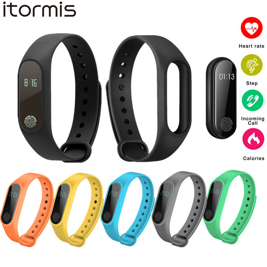 ITORMIS Smart Wristband M2 Smart Bracelet Heart Rate Monitor Smart Band Pedometer Bluetooth Fitness Tracker For iOS Android