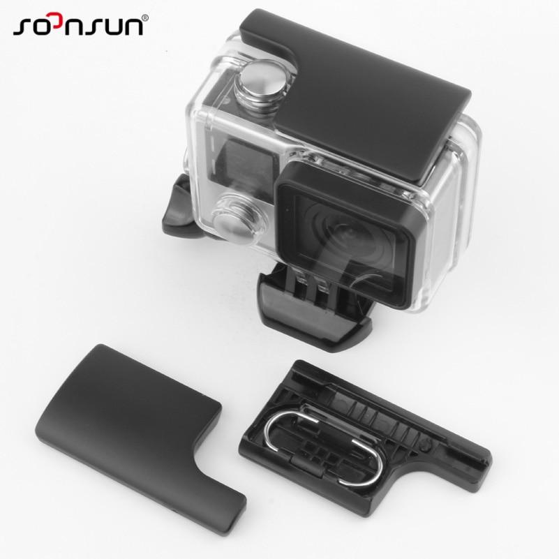SOONSUN Plastic Snap Latch Backdoor Clip Lock Buckle for GoPro Hero 3+ 4 Camera Waterproof Housing Case Accessories