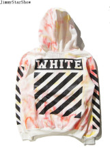 New Fashin OFF WHITE 13BOX Dye Bright Color Hoodies Sweatshirts Men Women Hip Hop Pullover Tracksuit Sweatshirts Outwear Jacket
