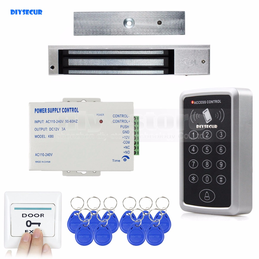 DIYSECUR Full Complete Rfid Card Keypad Door Access Control System Kit + 280KG Magnetic Lock for Home ImprovementDIYSECUR Full Complete Rfid Card Keypad Door Access Control System Kit + 280KG Magnetic Lock for Home Improvement