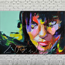 Palette knife painting portrait Palette knife Face Oil painting Impasto figure on canvas Hand painted Francoise Nielly 17