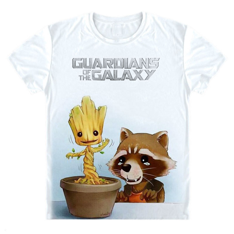 Guardians of the Galaxy 2 men t-shirt Anime T Shirt Summer Mens Male Short Sleeve Fashion Cool Tops Tees Homme Tshirt