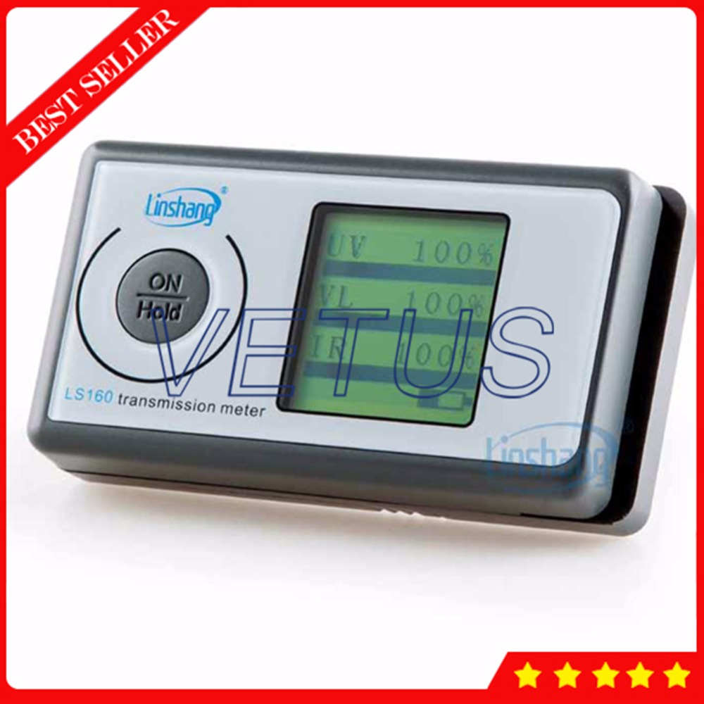 LS160 3 in 1 Solar Film Transmission Meter with UV IR rejection measurement Light Transmittance instrument Window Tinting Tester