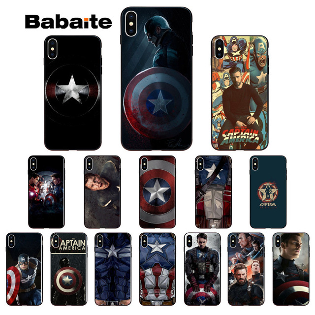 the latest 4210c 09601 US $1.37 31% OFF|Babaite Marvel Captain America Colorful Cute Phone  Accessories Case for Apple iPhone 8 7 6 6S Plus X XS MAX 5 5S SE XR  Cover-in ...
